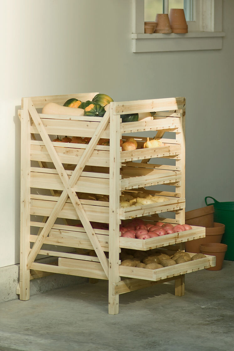 Orchard Rack Vegetable Storage Wood Storage Rack