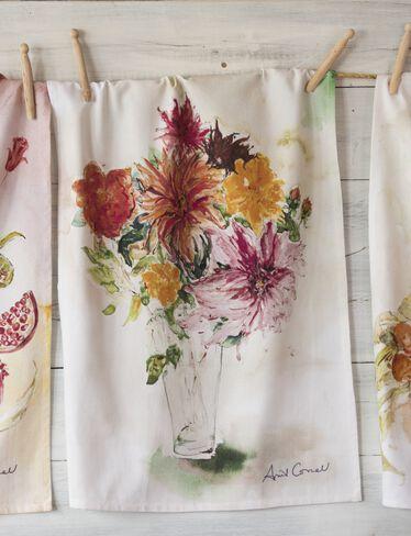 Watercolor Tea Towel