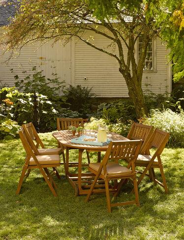 7-Piece Oval Folding Table Set