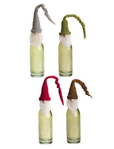 Woolly Gnome Wine Toppers, Set of 4