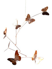 Handmade Copper Butterfly Mobile