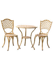Metal Bamboo Bistro Set