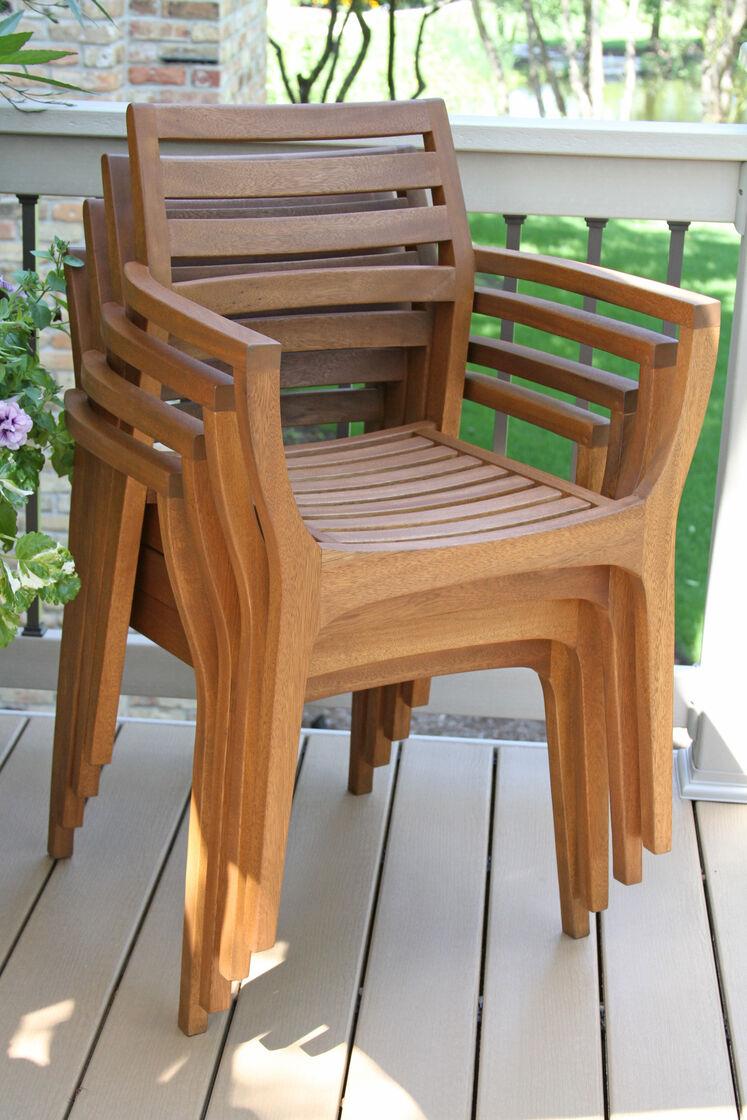 Danish Eucalyptus Bistro Chairs Set of 4