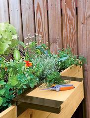 Work Shelf for Cedar Raised Beds