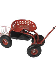 Deluxe Tractor Scoot with Bucket Basket