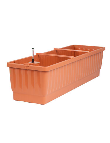 "31"" Self-Watering Windowbox, Terra Cotta"