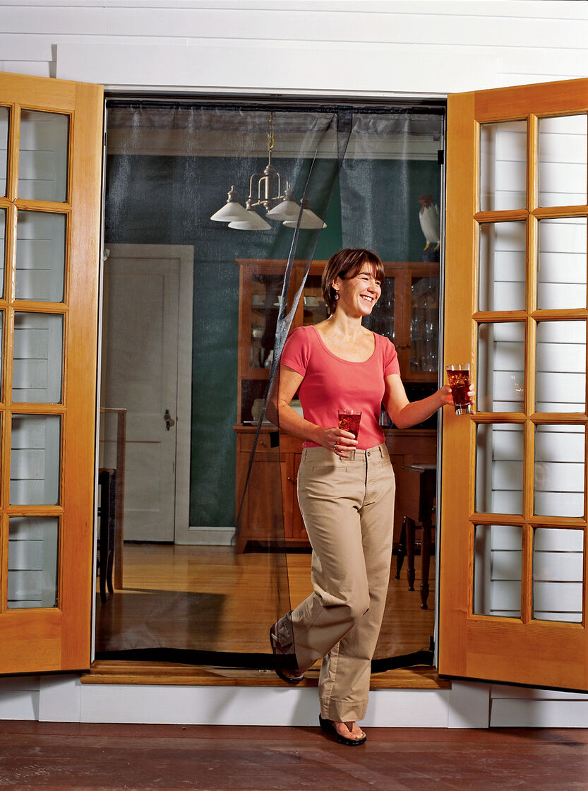 Doors With Screen: Screens For French Doors With Magnetic Closure