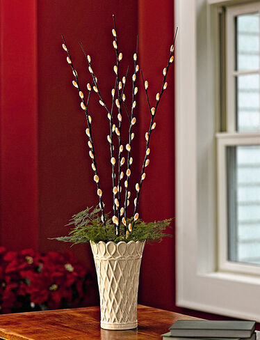 *Lattice Vase shown with Pussy Willow Lights, sold separately.