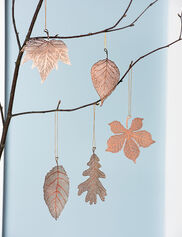 Lace Leaf Ornaments, Set of 5