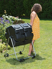 Dual Batch Compost Tumbler with Wheels
