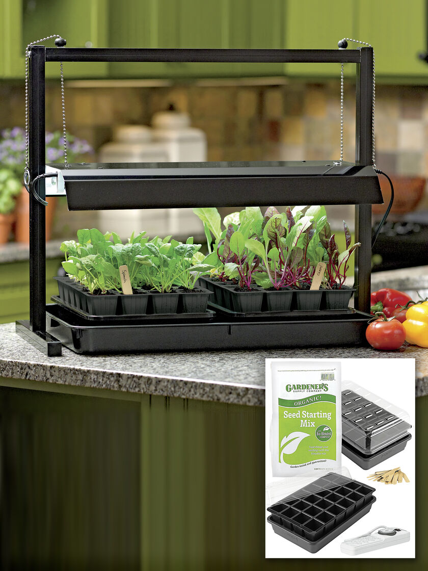 Small Grow Lights And Tabletop Garden Starter Kit
