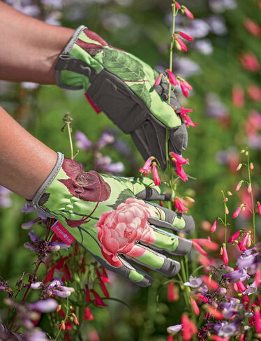 Rose Print Garden Gloves