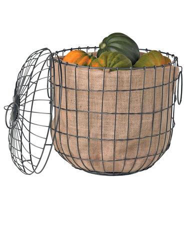 Jute Liners for Storage Baskets, Set of 3