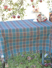"Market Plaid Tablecloth, 54"" Square"