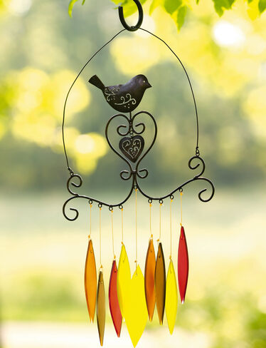 Filigree Bird Wind Chimes