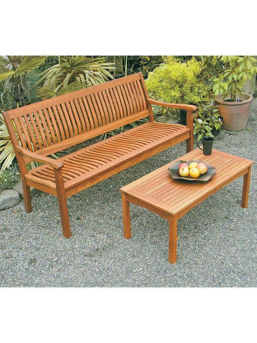 Wooden Patio Bench ~ Garden bench outdoor wood ft eucalyptus
