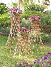 Willow Cone Planters, Set of 3