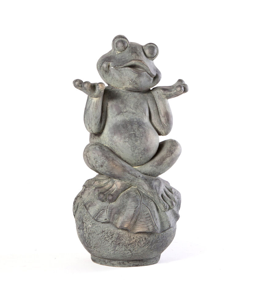 yard art zen frog statue gardener 39 s supply. Black Bedroom Furniture Sets. Home Design Ideas