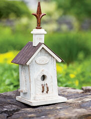 White Barn Wood Bird House