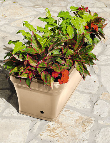 Brighton Self-Watering Planter, Beige