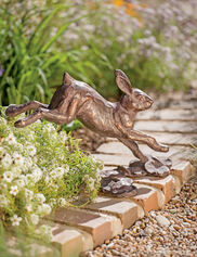 Running Rabbit Garden Sculpture