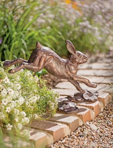 Running Rabbit Garden Sculpture