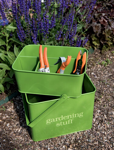 Gardening gift set garden tool caddy with hand tools for Gardening tools gift set