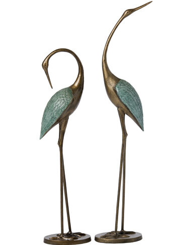 Crane Statues, Set of 2