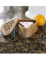 Soapstone Box with Two Fruit Fly Traps
