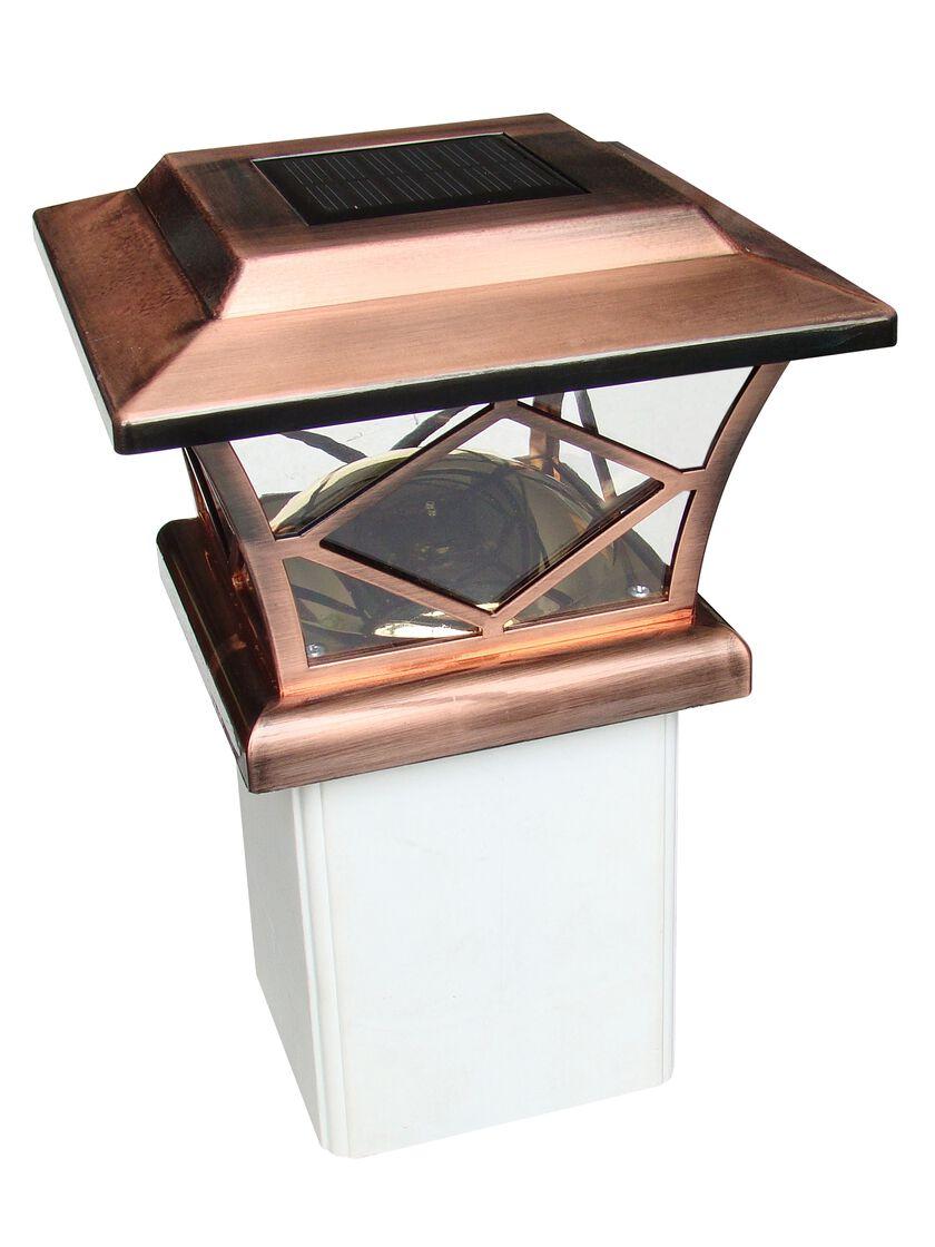 Solar Post Cap Lights Craftsman 4x4 Or 5x5 Copper Solar