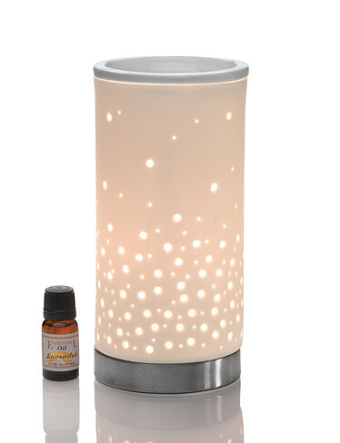 Porcelain Lamp Diffuser and Lavender Oil Set