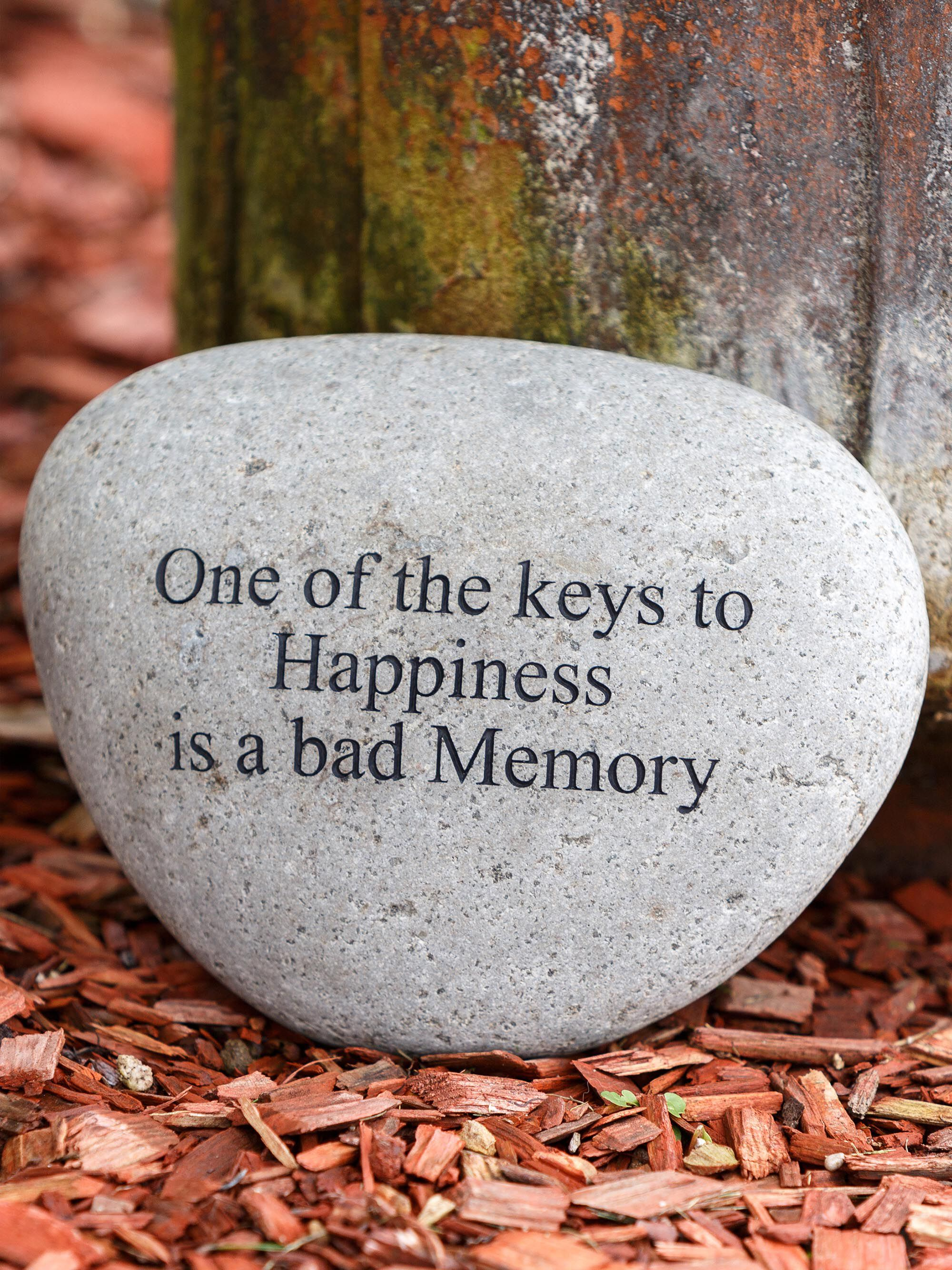 Engraved Stones Harmony Engraved River Stone For The Garden