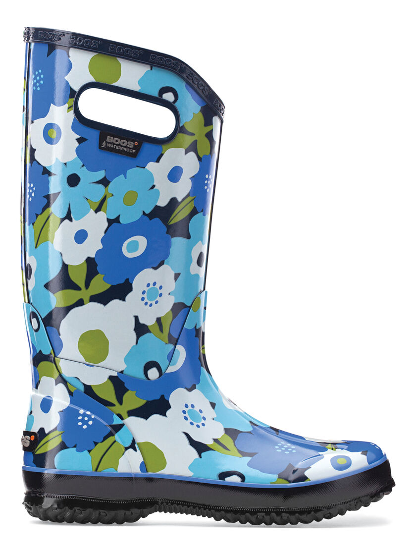 Cute Rain Boots for Women - Blue or Pink Floral Rain Boots by Bogs