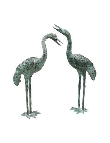 Bronze Crane Statues, Small