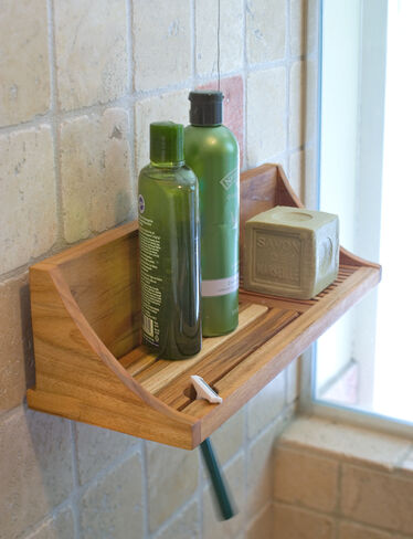 Perfect  Bathroom  Bathroom Accessories  Towel Holders  Teak Towel Shelf
