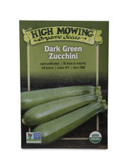 Dark Green Zucchini Organic Seeds