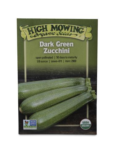 Dark Green Zucchini Organic Seeds