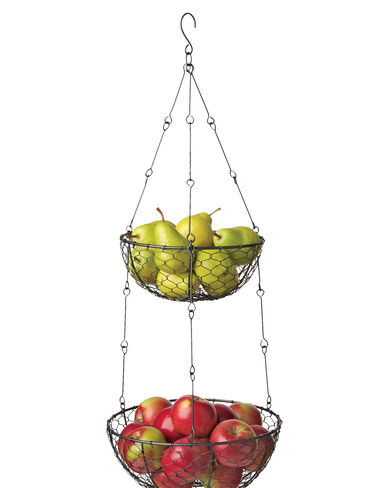 2-Tiered Hanging Basket
