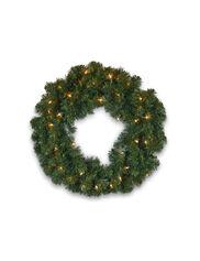 "Pre-Lit Wreath, 24"""