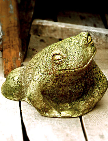 Toad Dude Garden Sculpture