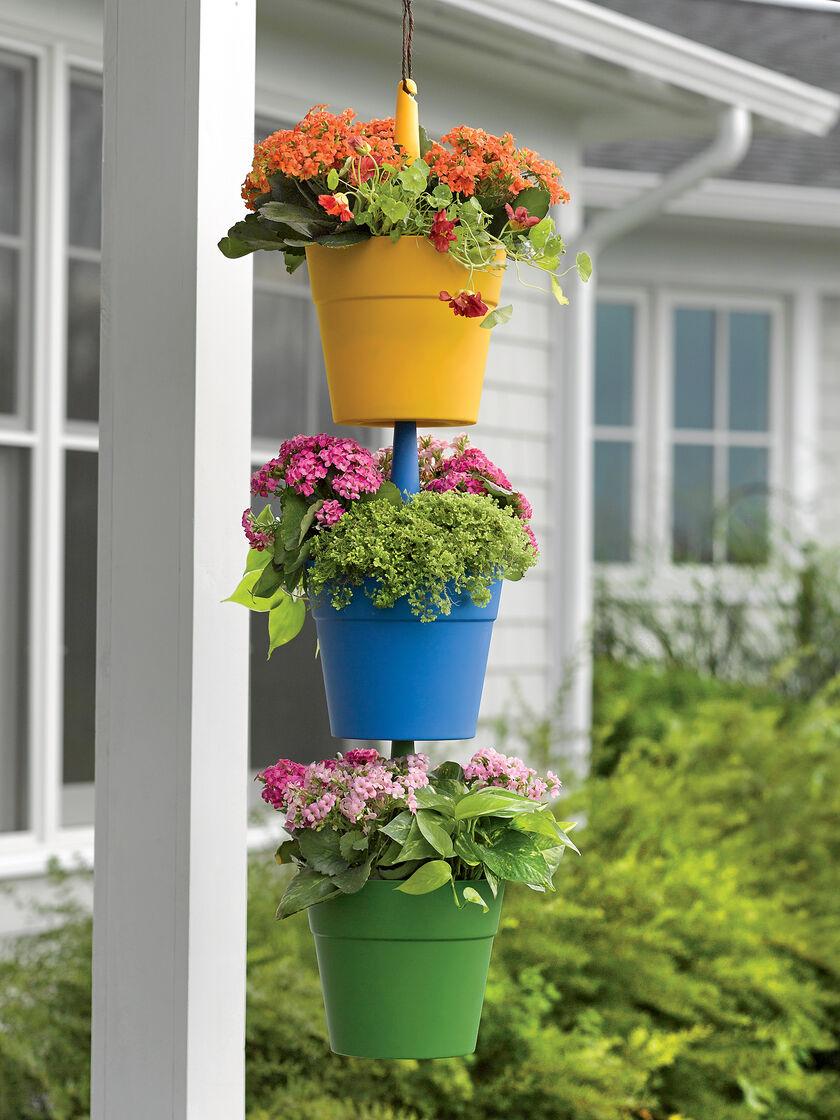 Plant Pots Cascading Hanging Flower Pots