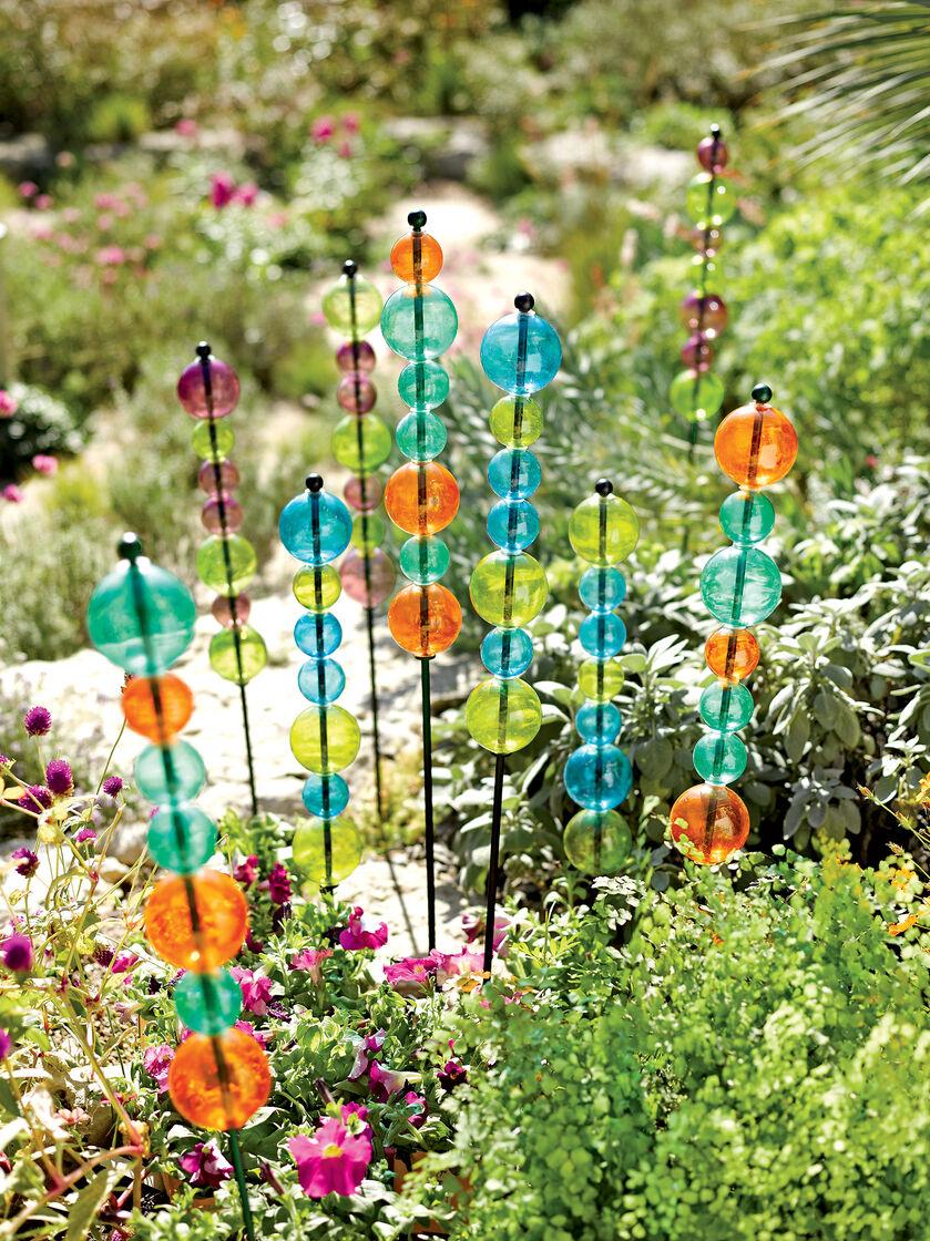 Garden Art Stacked Glass Bubble Stake Gardener S Supply