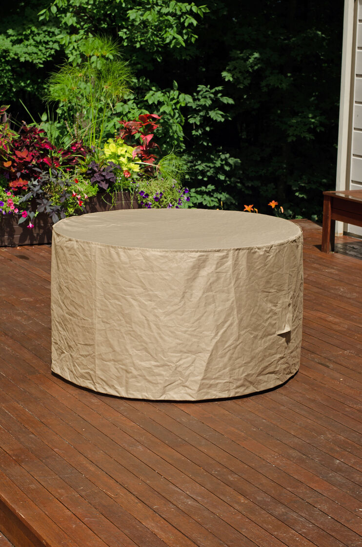 Deluxe Round Table Cover Patio Furniture Covers