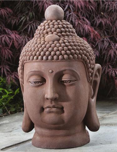 Buddha Bust Garden Statue