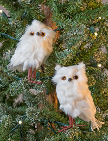 Downy Owl Ornament