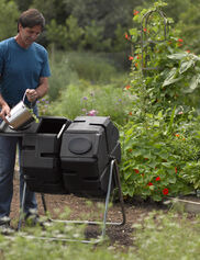 Dual-Batch Compost Tumbler