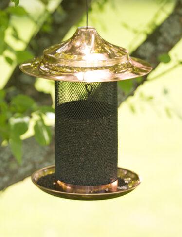 Copper Thistle Bird Feeder