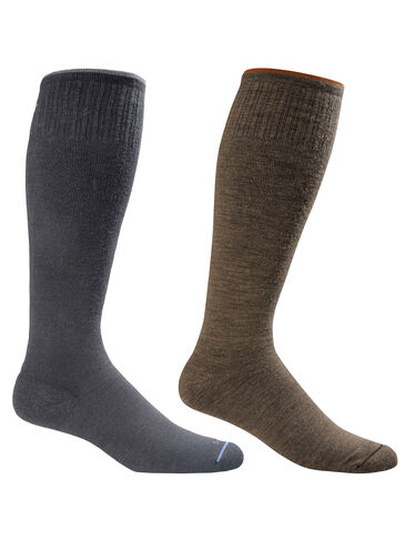*Men's Compression Socks in Black and Bark