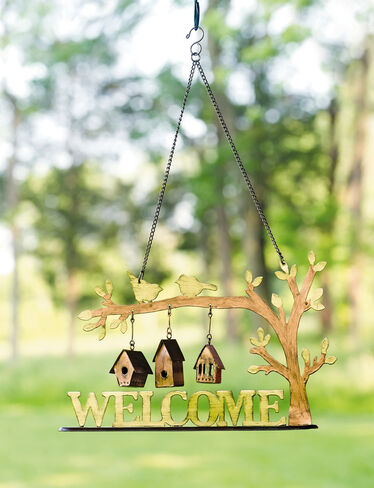 Birdhouse Welcome Sign