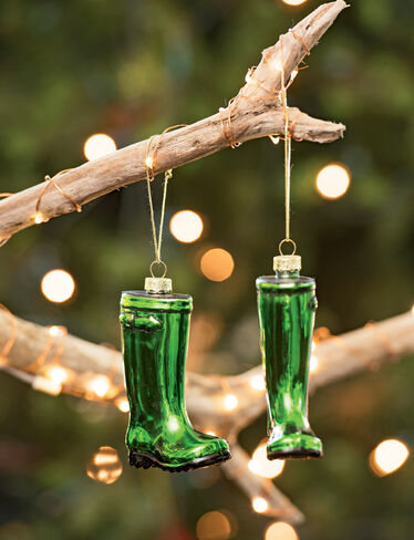Heirloom Wellie Ornaments, Set of 2